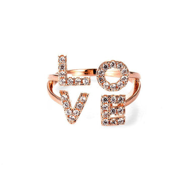 Charming Love Initials Ring-Blinglane