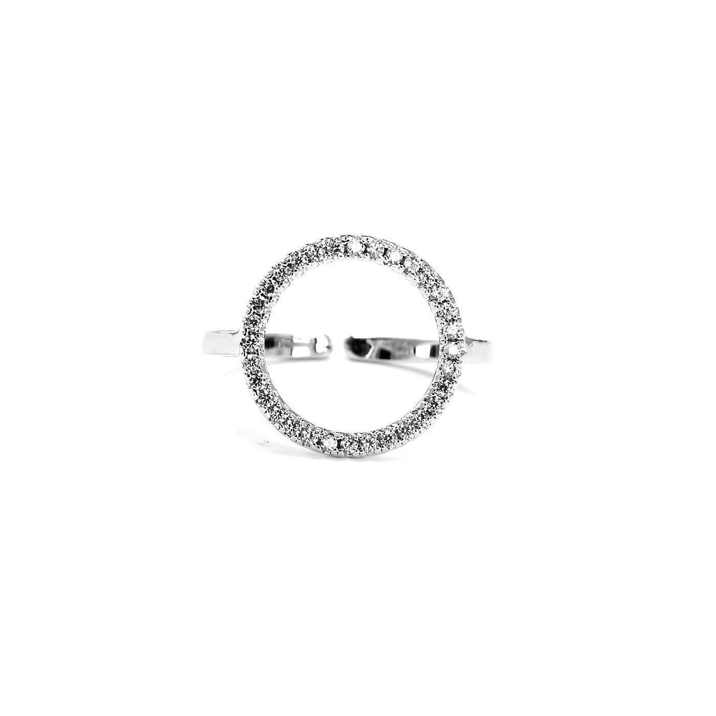 Circle Love Cubic Zirconia Ring-Blinglane