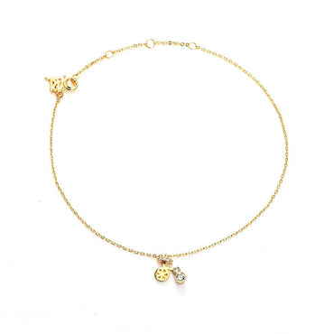 Clara's Bicycle Gold Plated Anklet-Blinglane