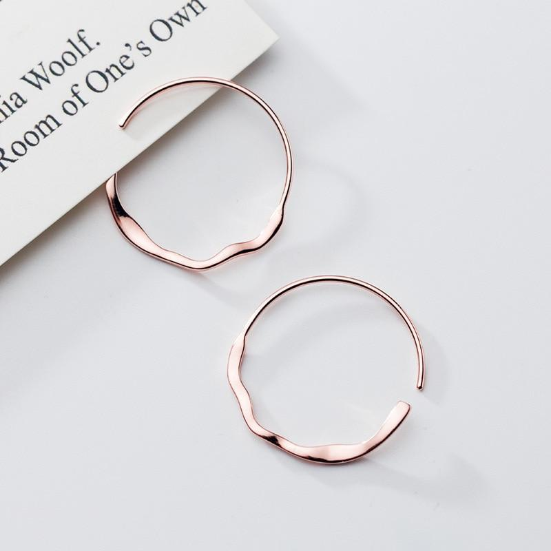 Classy Curves Minimal Sterling Silver Hoops-Silver Earrings-Blinglane