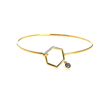 Contemporary Hexagon Elegant Bangle-Blinglane