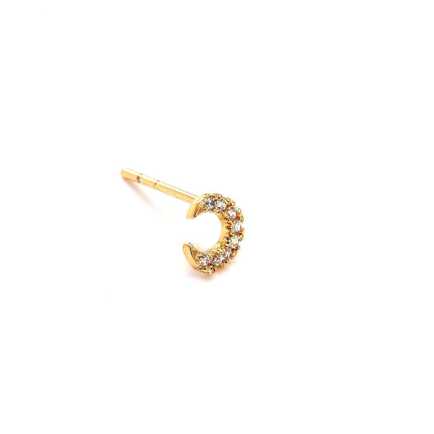 Crescent Moon Charm Nose Pin-Blinglane