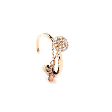 Cross Charm Elegant Ring-Blinglane