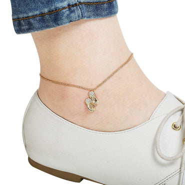 Cute Slipper Gold Plated Bling Anklet-Blinglane