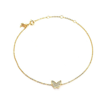 Cutesy Butterfly Charm Anklet-Blinglane