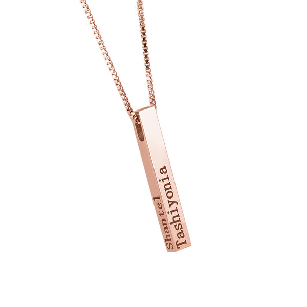 Personalize Your Name Vertical Bar Fashion Necklace