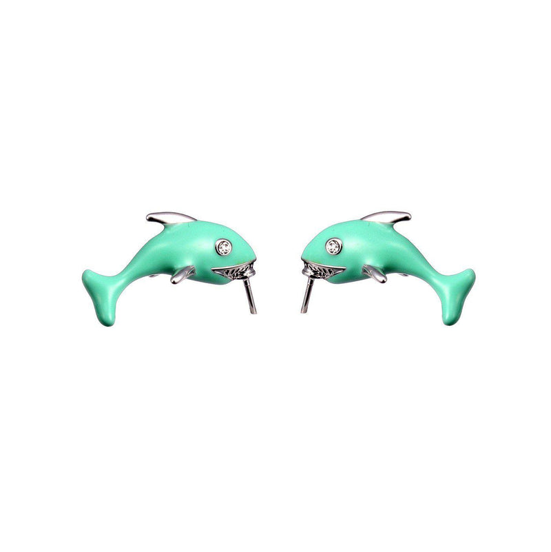 Delicate Dolphin Studs-Blinglane