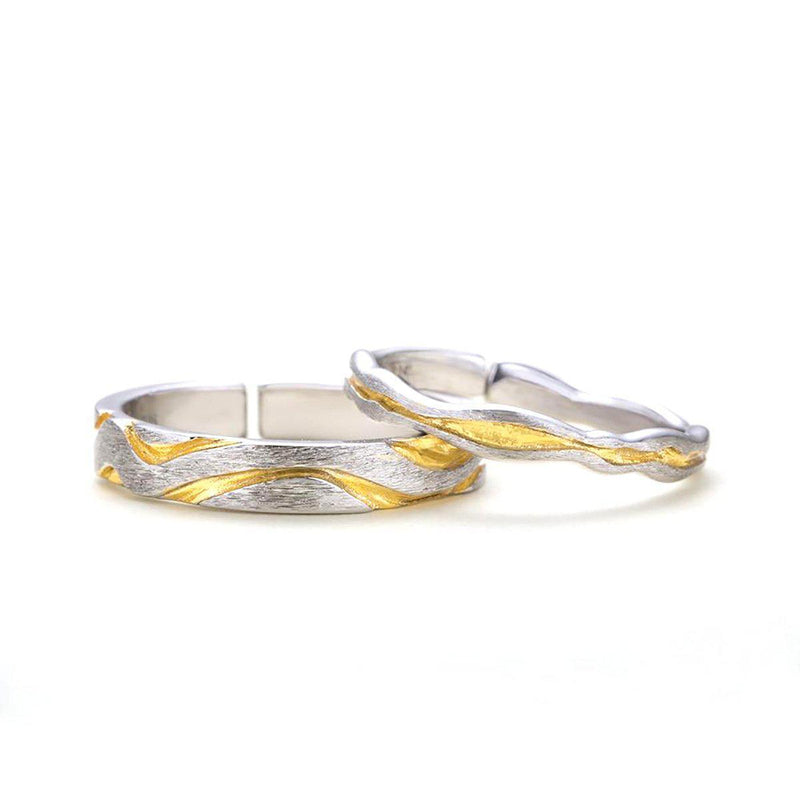 Dreams are made of Sun & Sand Sterling Silver Love Bands-Blinglane