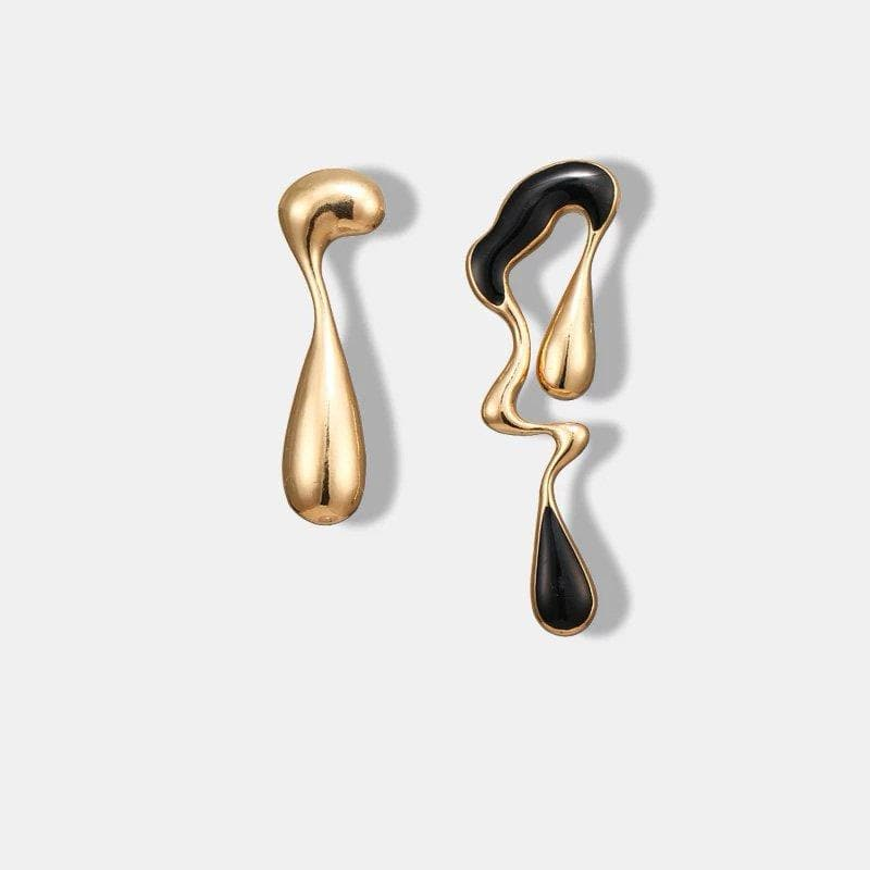 Abstract Art Dauntless Metallic Earrings