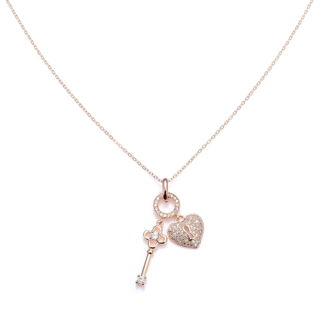 Elite Lock & Key Charms Neckpiece-Blinglane