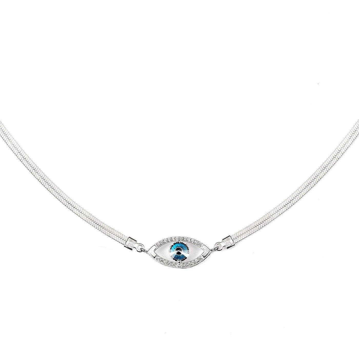 Enchanting Evil Eye Choker-Blinglane