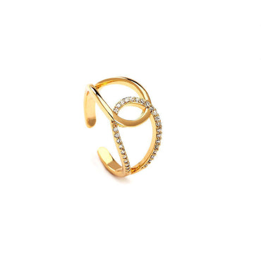 Entangled Souls Gold Plated Rings-Blinglane