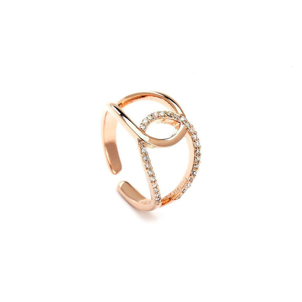 Entangled Souls Rose Gold Plated Rings-Blinglane