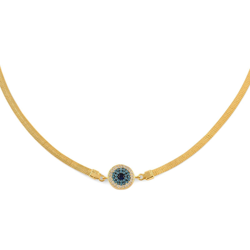 Exclusive Evil Eye Choker-Blinglane