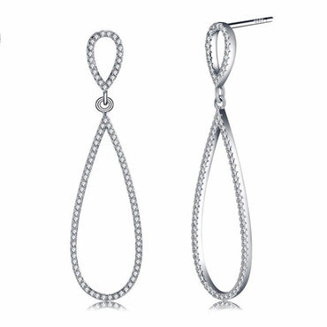 Finesse Pear Drop Earrings-Blinglane
