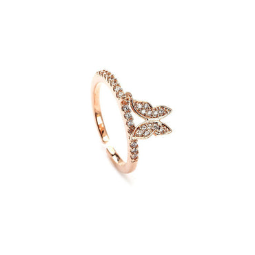 Fly High Butterfly Midi Ring-Blinglane