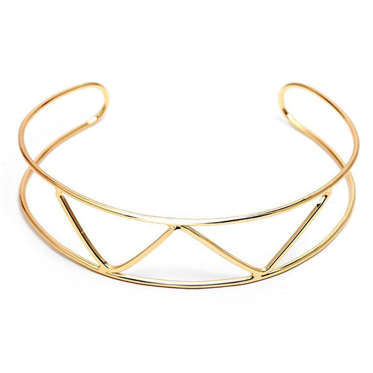 Golden Gate Metallic Choker-Blinglane