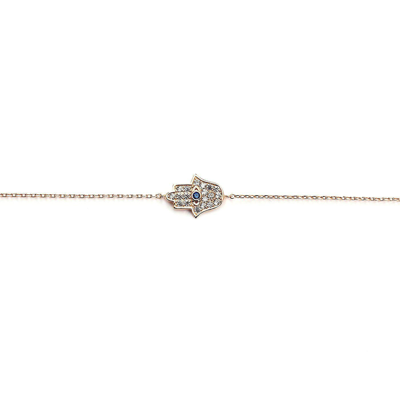 Hamsa Rose Gold Bracelet-Blinglane