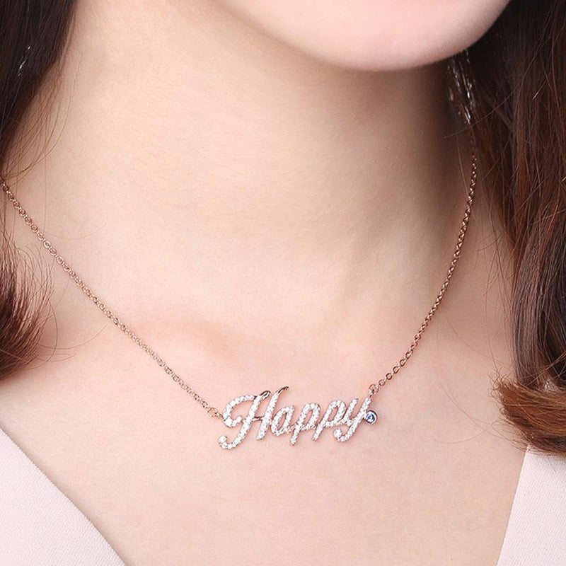 Happy Me Necklace-Blinglane