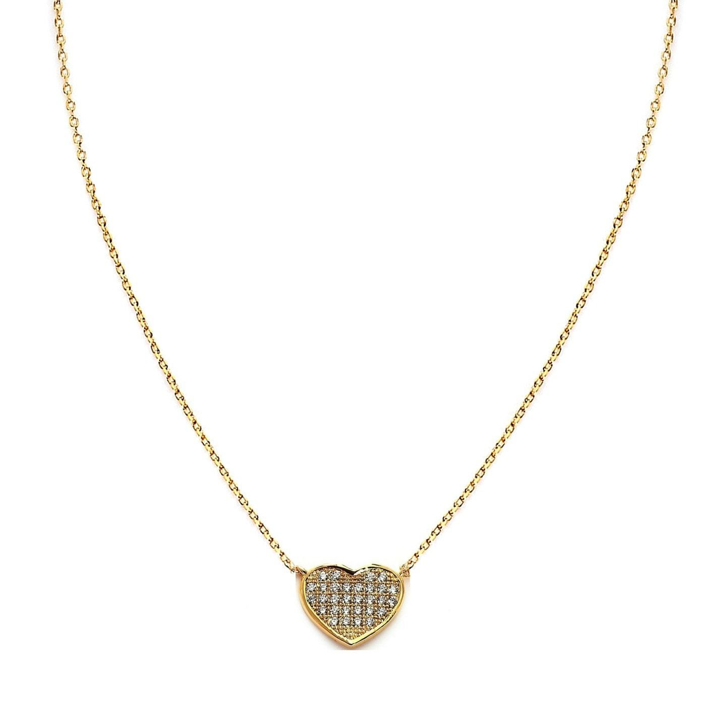 Heart Beat Yellow Gold plated Necklace-Blinglane