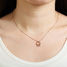 Hello Kitty Rose Gold Plated Pendant-Blinglane