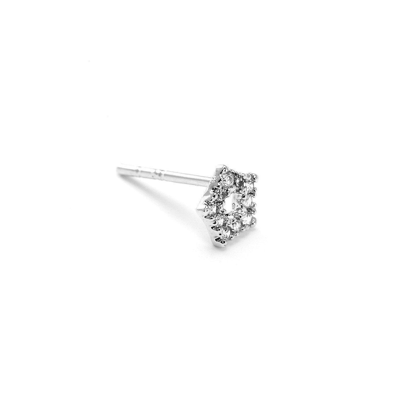 Hester Hexagon Charm Nose Pin-Blinglane