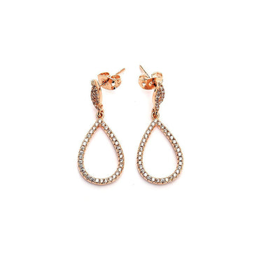 Hoop Loop Studded Earrings-Blinglane