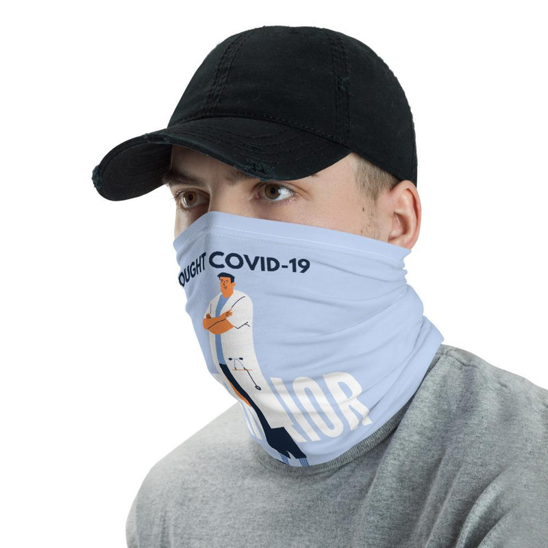 I Fought Covid-19 Doctor Men's Neck Gaiter-Neck Gaiters-Blinglane