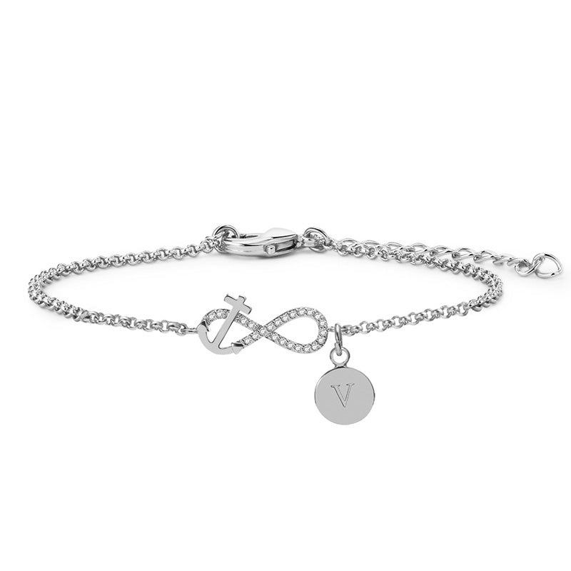 Personalize Your Charm & Initial Fashion Bracelet