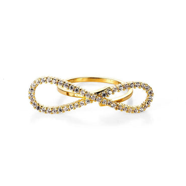 Infinity Charm Elongated Ring-Blinglane