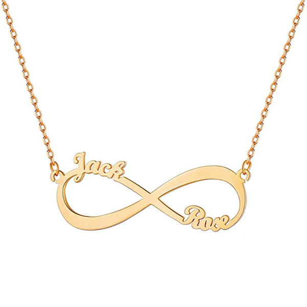 Personalize Your Couple or BFF Names Infinity Necklace