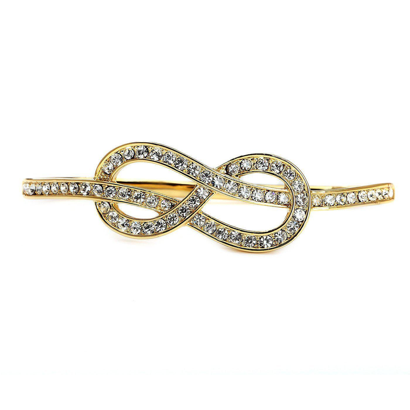 Infinity Gold Plated Palm Bracelet-Blinglane