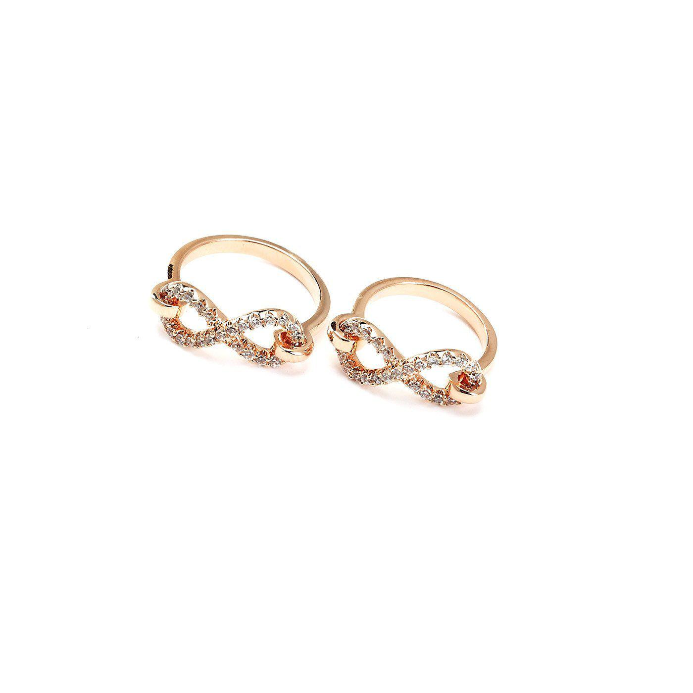 Infinity Rose Gold Plated Ring-Blinglane