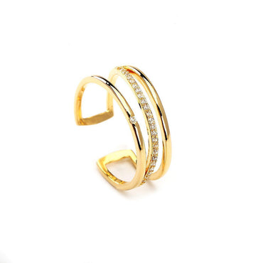 Intersection Gold Plated Ring-Blinglane