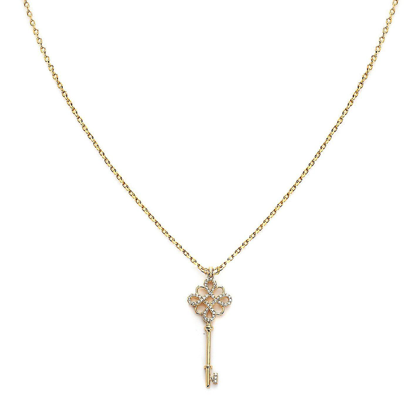 Key To My Heart Golden Pendant-Blinglane