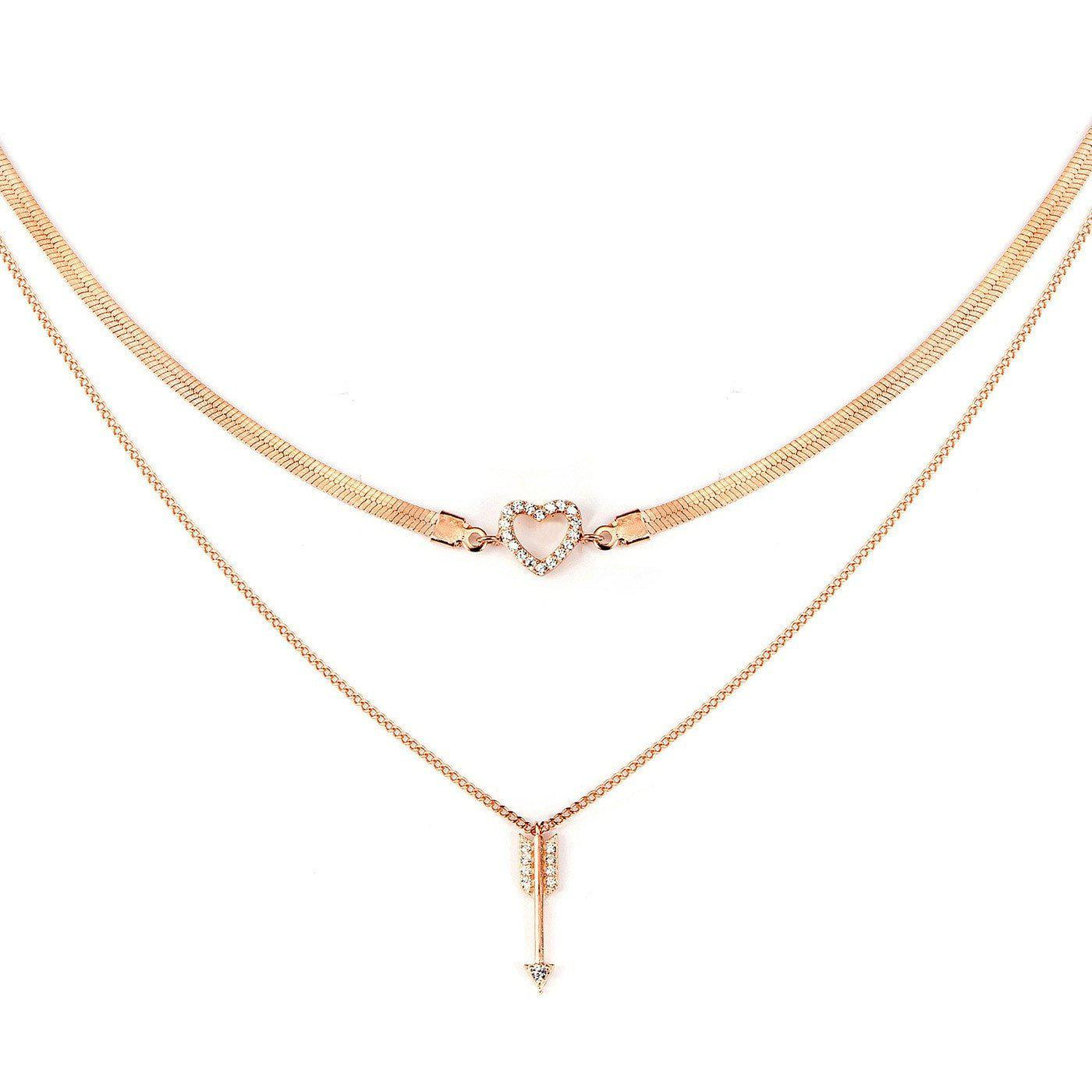 Key to My Heart Layered Choker-Blinglane
