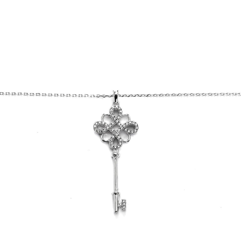 Key To My Heart Silver Pendant-Blinglane