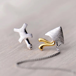 Fly High as a Kite Sterling Silver Tassel Studs-Silver Earrings-Blinglane
