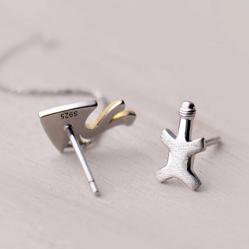 Fly High as a Kite Sterling Silver Tassel Studs