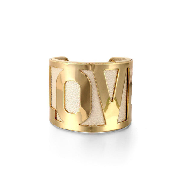 Love Statement Cuff Bracelet-Blinglane