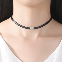 Lovely Heart Bling Choker-Blinglane