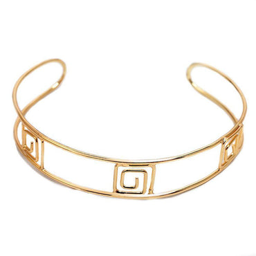 Lovely Swirls Metallic Choker-Blinglane