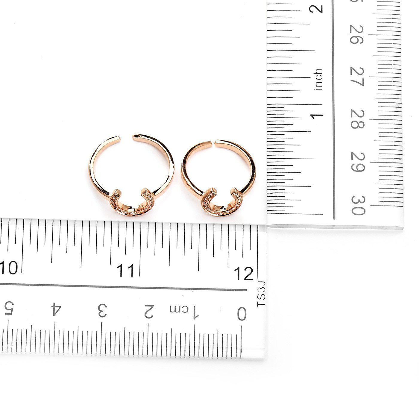 Lucky Horse Shoe Fashion Midi Ring-Blinglane