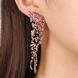 Lush Vine Earrings-Blinglane