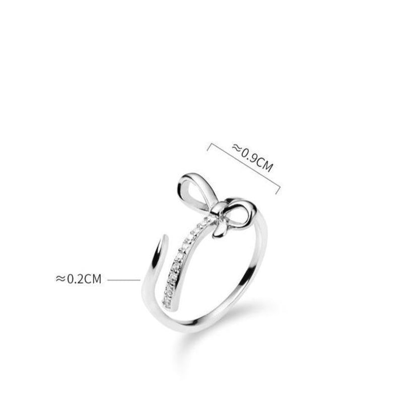 Luxe Bow Knot Sterling Silver Ring-Silver Ring-Blinglane