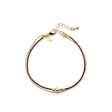 Luxe Brown & Gold Elegant Bracelet-Blinglane