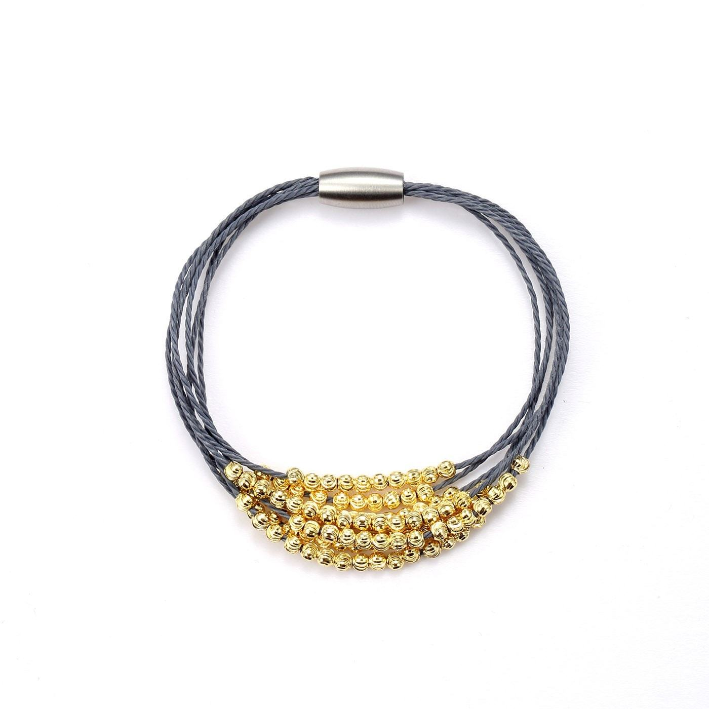 Luxe Shades of Grey & Gold Bracelet-Blinglane
