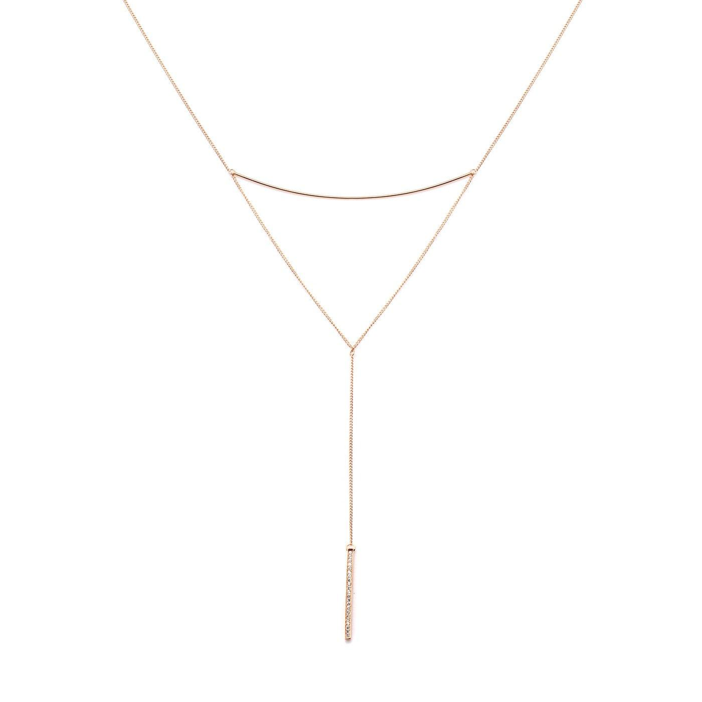 Luxe Sleek Bars Layered Necklace-Blinglane