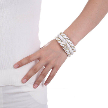 Luxe White Bangles Set-Blinglane