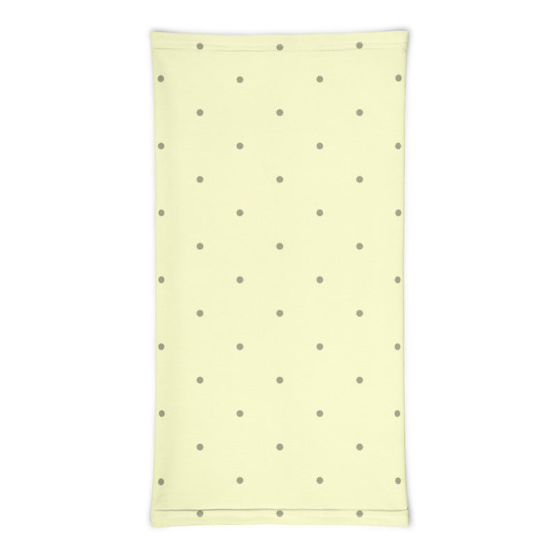 Lemon Polka Dots Neck Gaiter